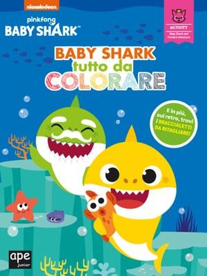 Baby Shark tutto da colorare
