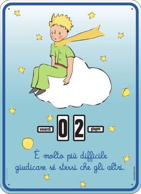 Calendario perpetuo. Il Piccolo Principe - Nuvola