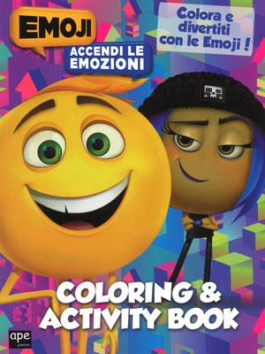 Coloring & activity book. Emoji