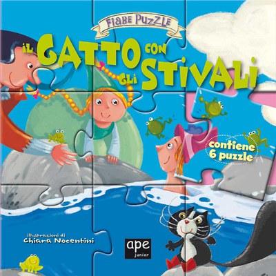 Il gatto con gli stivali. Fiabe puzzle. Libro puzzle. Ediz. illustrata