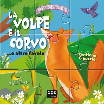 La volpe e il corvo... e altre favole. Libro puzzle. Ediz. illustrata