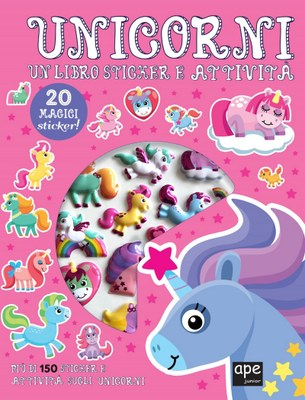 Sticker 3D Unicorni