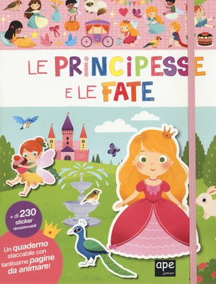 Stickers quaderno principesse